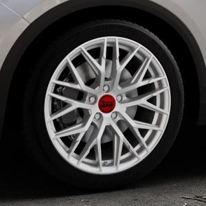 MAM RS4 MATT SILVER PAINTED Felge mit Reifen silber in 18Zoll Winterfelge Alufelge auf silbernem Volkswagen (VW) T-Roc ⬇️ mit 15mm Tieferlegung ⬇️ Industriehalle 1 Thumbnail