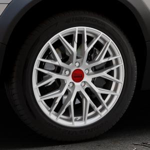 MAM RS4 MATT SILVER PAINTED Felge mit Reifen silber in 18Zoll Winterfelge Alufelge auf silbernem Volvo XC70 II Typ B ⬇️ mit 15mm Tieferlegung ⬇️ Industriehalle 1 Thumbnail