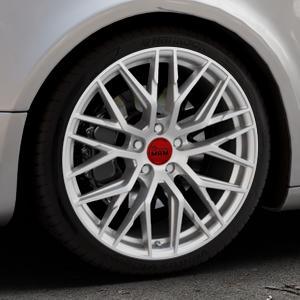 MAM RS4 MATT SILVER PAINTED Felge mit Reifen silber in 19Zoll Winterfelge Alufelge auf silbernem Audi A5 Typ B8 (Sportback) ⬇️ mit 15mm Tieferlegung ⬇️ Industriehalle 1 Thumbnail