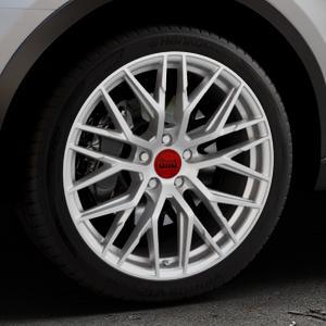 MAM RS4 MATT SILVER PAINTED Felge mit Reifen silber in 19Zoll Winterfelge Alufelge auf silbernem Audi Q3 I Typ 8U Facelift ⬇️ mit 15mm Tieferlegung ⬇️ Industriehalle 1 Thumbnail