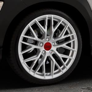 MAM RS4 MATT SILVER PAINTED Felge mit Reifen silber in 19Zoll Winterfelge Alufelge auf silbernem Hyundai Kona Typ OS ⬇️ mit 15mm Tieferlegung ⬇️ Industriehalle 1 Thumbnail