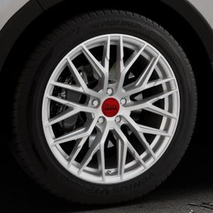 MAM RS4 MATT SILVER PAINTED Felge mit Reifen silber in 19Zoll Winterfelge Alufelge auf silbernem Kia Sorento III Typ UM ⬇️ mit 15mm Tieferlegung ⬇️ Industriehalle 1 Thumbnail