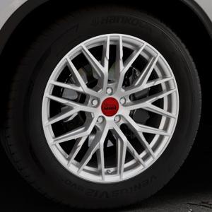 MAM RS4 MATT SILVER PAINTED Felge mit Reifen silber in 19Zoll Winterfelge Alufelge auf silbernem Mercedes GLE-Klasse Coupe Typ x166 ⬇️ mit 15mm Tieferlegung ⬇️ Industriehalle 1 Thumbnail