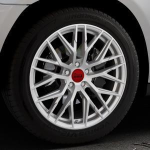 MAM RS4 MATT SILVER PAINTED Felge mit Reifen silber in 19Zoll Winterfelge Alufelge auf silbernem Mercedes M-Klasse Typ W164 ⬇️ mit 15mm Tieferlegung ⬇️ Industriehalle 1 Thumbnail
