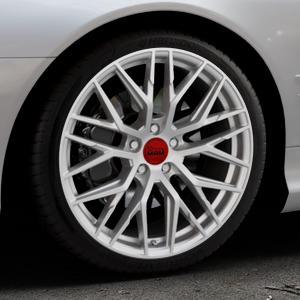 MAM RS4 MATT SILVER PAINTED Felge mit Reifen silber in 19Zoll Winterfelge Alufelge auf silbernem Mercedes SL Typ R230 ⬇️ mit 15mm Tieferlegung ⬇️ Industriehalle 1 Thumbnail
