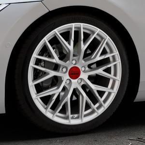 MAM RS4 MATT SILVER PAINTED Felge mit Reifen silber in 19Zoll Winterfelge Alufelge auf silbernem Volkswagen (VW) Arteon Typ 3H ⬇️ mit 15mm Tieferlegung ⬇️ Industriehalle 1 Thumbnail
