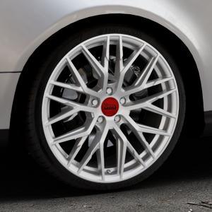 MAM RS4 MATT SILVER PAINTED Felge mit Reifen silber in 19Zoll Winterfelge Alufelge auf silbernem Volkswagen (VW) Passat 3C/B6 Variant ⬇️ mit 15mm Tieferlegung ⬇️ Industriehalle 1 Thumbnail