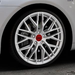 MAM RS4 MATT SILVER PAINTED Felge mit Reifen silber in 19Zoll Winterfelge Alufelge auf silbernem Volkswagen (VW) Scirocco III Typ 13 ⬇️ mit 15mm Tieferlegung ⬇️ Industriehalle 1 Thumbnail