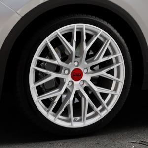MAM RS4 MATT SILVER PAINTED Felge mit Reifen silber in 19Zoll Winterfelge Alufelge auf silbernem Volkswagen (VW) T-Roc ⬇️ mit 15mm Tieferlegung ⬇️ Industriehalle 1 Thumbnail