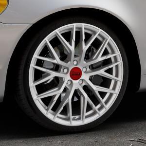 MAM RS4 MATT SILVER PAINTED Felge mit Reifen silber in 19Zoll Winterfelge Alufelge auf silbernem Volvo C70 II Cabriolet Typ M ⬇️ mit 15mm Tieferlegung ⬇️ Industriehalle 1 Thumbnail