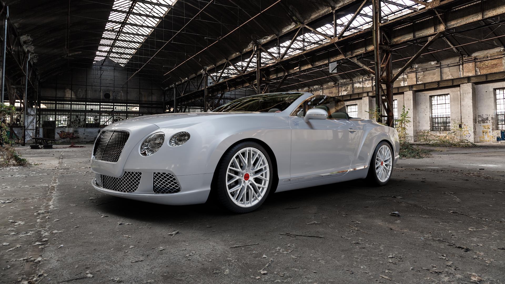 MAM RS4 MATT SILVER PAINTED Felge mit Reifen silber in 20Zoll Winterfelge Alufelge auf silbernem Bentley Continental Flying Spur GT GTC ⬇️ mit 15mm Tieferlegung ⬇️ Industriehalle 1 Camera_000