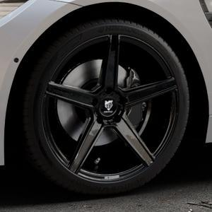 MB-DESIGN KV1 Glanzschwarz Felge mit Reifen in 19Zoll Winterfelge Alufelge auf silbernem BMW M4 Typ F82 GTS 3,0l 368kW (500 PS) ⬇️ mit 15mm Tieferlegung ⬇️ Industriehalle 1 Thumbnail