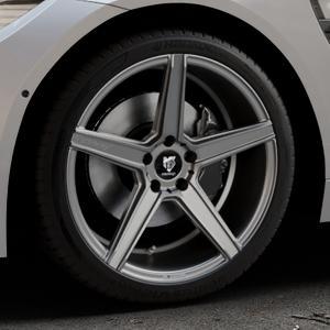 MB-DESIGN KV1 Mattgrau Felge mit Reifen in 19Zoll Winterfelge Alufelge auf silbernem BMW M4 Typ F82 GTS 3,0l 368kW (500 PS) ⬇️ mit 15mm Tieferlegung ⬇️ Industriehalle 1 Thumbnail