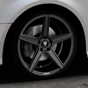 MB-DESIGN KV1 Mattschwarz Felge mit Reifen in 19Zoll Winterfelge Alufelge auf silbernem Audi A3 Typ 8V Facelift ⬇️ mit 15mm Tieferlegung ⬇️ Industriehalle 1 Thumbnail