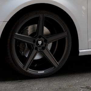 MB-DESIGN KV1 Mattschwarz Felge mit Reifen in 19Zoll Winterfelge Alufelge auf silbernem Audi A3 Typ 8V ⬇️ mit 15mm Tieferlegung ⬇️ Industriehalle 1 Thumbnail