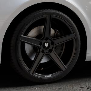 MB-DESIGN KV1 Mattschwarz Felge mit Reifen in 19Zoll Winterfelge Alufelge auf silbernem Audi A4 Typ 8K2/B8 (Limousine) ⬇️ mit 15mm Tieferlegung ⬇️ Industriehalle 1 Thumbnail