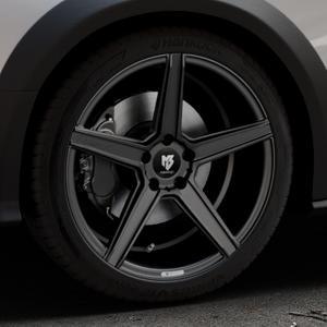 MB-DESIGN KV1 Mattschwarz Felge mit Reifen in 19Zoll Winterfelge Alufelge auf silbernem Audi A4 Typ 8KH/B8 Allroad ⬇️ mit 15mm Tieferlegung ⬇️ Industriehalle 1 Thumbnail