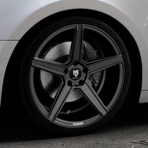 MB-DESIGN KV1 Mattschwarz Felge mit Reifen in 19Zoll Winterfelge Alufelge auf silbernem Audi A4 Typ B9 (Avant) ⬇️ mit 15mm Tieferlegung ⬇️ Industriehalle 1 Thumbnail