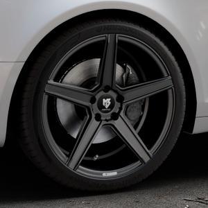 MB-DESIGN KV1 Mattschwarz Felge mit Reifen in 19Zoll Winterfelge Alufelge auf silbernem Audi A6 Typ 4F/C6 (Avant) ⬇️ mit 15mm Tieferlegung ⬇️ Industriehalle 1 Thumbnail