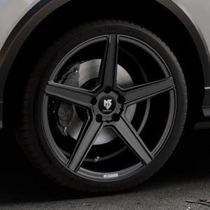 MB-DESIGN KV1 Mattschwarz Felge mit Reifen in 19Zoll Winterfelge Alufelge auf silbernem Audi Q2 Typ GA ⬇️ mit 15mm Tieferlegung ⬇️ Industriehalle 1 Thumbnail
