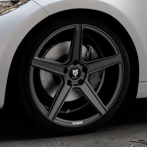 MB-DESIGN KV1 Mattschwarz Felge mit Reifen in 19Zoll Winterfelge Alufelge auf silbernem BMW M2 Typ F87 ⬇️ mit 15mm Tieferlegung ⬇️ Industriehalle 1 Thumbnail