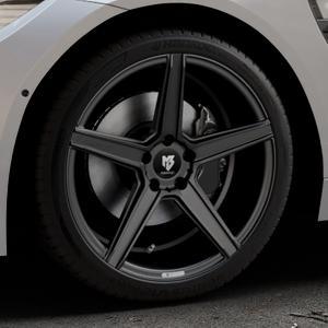 MB-DESIGN KV1 Mattschwarz Felge mit Reifen in 19Zoll Winterfelge Alufelge auf silbernem BMW M4 Typ F82 GTS 3,0l 368kW (500 PS) ⬇️ mit 15mm Tieferlegung ⬇️ Industriehalle 1 Thumbnail