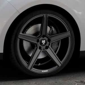 MB-DESIGN KV1 Mattschwarz Felge mit Reifen in 19Zoll Winterfelge Alufelge auf silbernem Ford C-Max II Typ DXA (10->) ⬇️ mit 15mm Tieferlegung ⬇️ Industriehalle 1 Thumbnail