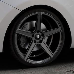 MB-DESIGN KV1 Mattschwarz Felge mit Reifen in 19Zoll Winterfelge Alufelge auf silbernem Hyundai i30 Typ GDH Kombi Facelift Coupe ⬇️ mit 15mm Tieferlegung ⬇️ Industriehalle 1 Thumbnail