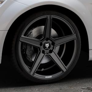 MB-DESIGN KV1 Mattschwarz Felge mit Reifen in 19Zoll Winterfelge Alufelge auf silbernem Mercedes C-Klasse Typ W204 Limousine ⬇️ mit 15mm Tieferlegung ⬇️ Industriehalle 1 Thumbnail