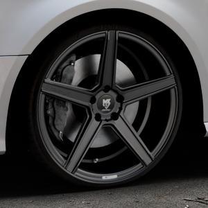 MB-DESIGN KV1 Mattschwarz Felge mit Reifen in 20Zoll Winterfelge Alufelge auf silbernem Audi A3 Typ 8V Facelift ⬇️ mit 15mm Tieferlegung ⬇️ Industriehalle 1 Thumbnail