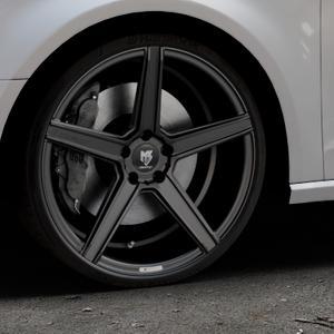 MB-DESIGN KV1 Mattschwarz Felge mit Reifen in 20Zoll Winterfelge Alufelge auf silbernem Audi A3 Typ 8V ⬇️ mit 15mm Tieferlegung ⬇️ Industriehalle 1 Thumbnail