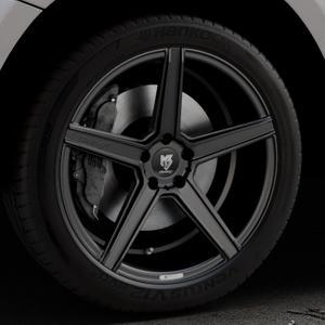 MB-DESIGN KV1 Mattschwarz Felge mit Reifen in 20Zoll Winterfelge Alufelge auf silbernem Audi Q5 I Typ 8R ⬇️ mit 15mm Tieferlegung ⬇️ Industriehalle 1 Thumbnail