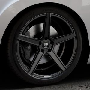 MB-DESIGN KV1 Mattschwarz Felge mit Reifen in 20Zoll Winterfelge Alufelge auf silbernem Bentley Continental Flying Spur GT GTC ⬇️ mit 15mm Tieferlegung ⬇️ Industriehalle 1 Thumbnail