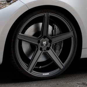 MB-DESIGN KV1 Mattschwarz Felge mit Reifen in 20Zoll Winterfelge Alufelge auf silbernem BMW M2 Typ F87 ⬇️ mit 15mm Tieferlegung ⬇️ Industriehalle 1 Thumbnail