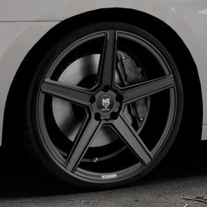 MB-DESIGN KV1 Mattschwarz Felge mit Reifen in 20Zoll Winterfelge Alufelge auf silbernem Hyundai i40 Typ VF Limousine Kombi Facelift ⬇️ mit 15mm Tieferlegung ⬇️ Industriehalle 1 Thumbnail