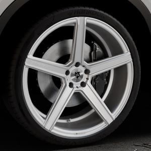 MB-DESIGN KV1 Silber Felge mit Reifen in 22Zoll Winterfelge Alufelge auf silbernem BMW X6 Typ F16 (X6, X-N1) ⬇️ mit 15mm Tieferlegung ⬇️ Industriehalle 1 Thumbnail