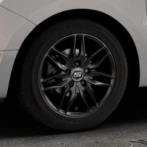 MSW 24 MATT BLACK Felge mit Reifen schwarz in 15Zoll Winterfelge Alufelge auf silbernem Dacia Logan II Typ SD ⬇️ mit 15mm Tieferlegung ⬇️ Industriehalle 1 Thumbnail