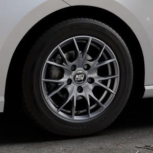 MSW 25 MATT TITANIUM TECH Felge mit Reifen in 15Zoll Winterfelge Alufelge auf silbernem Seat Ibiza V Typ KJ ⬇️ mit 15mm Tieferlegung ⬇️ Industriehalle 1 Thumbnail