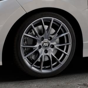 MSW 25 MATT TITANIUM TECH Felge mit Reifen in 17Zoll Winterfelge Alufelge auf silbernem Honda Jazz IV (GK) Facelift ⬇️ mit 15mm Tieferlegung ⬇️ Industriehalle 1 Thumbnail