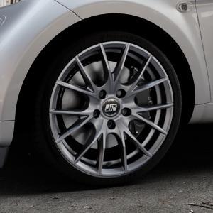 MSW 25 MATT TITANIUM TECH Felge mit Reifen in 17Zoll Winterfelge Alufelge auf silbernem Smart Fortwo Coupe III (14-) (453) Cabrio (16-) ⬇️ mit 15mm Tieferlegung ⬇️ Industriehalle 1 Thumbnail