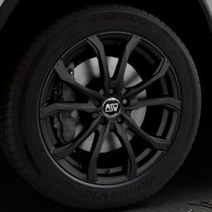 MSW 48 MATT BLACK Felge mit Reifen schwarz in 20Zoll Winterfelge Alufelge auf silbernem Jeep Grand Cherokee IV Typ WK ⬇️ mit 15mm Tieferlegung ⬇️ Industriehalle 1 Thumbnail