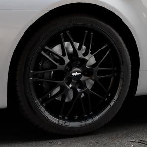 OXIGIN 14 Oxrock black Felge mit Reifen schwarz in 19Zoll Winterfelge Alufelge auf silbernem Alfa Romeo 159 Sportwagon ⬇️ mit 15mm Tieferlegung ⬇️ Industriehalle 1 Thumbnail