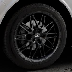 OXIGIN 14 Oxrock black Felge mit Reifen schwarz in 19Zoll Winterfelge Alufelge auf silbernem Alfa Romeo Stelvio Typ 949 ⬇️ mit 15mm Tieferlegung ⬇️ Industriehalle 1 Thumbnail