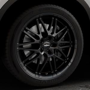 OXIGIN 14 Oxrock black Felge mit Reifen schwarz in 20Zoll Winterfelge Alufelge auf silbernem BMW X6 Typ F16 (X6, X-N1) ⬇️ mit 15mm Tieferlegung ⬇️ Industriehalle 1 Thumbnail