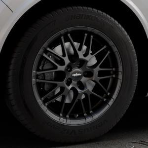 OXIGIN 14 Oxrock black matt Felge mit Reifen schwarz in 18Zoll Winterfelge Alufelge auf silbernem Alfa Romeo Stelvio Typ 949 ⬇️ mit 15mm Tieferlegung ⬇️ Industriehalle 1 Thumbnail