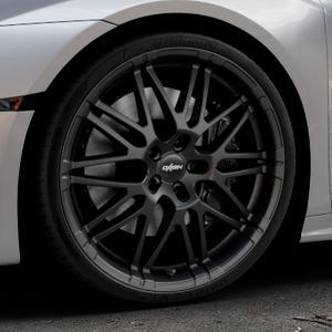 OXIGIN 14 Oxrock black matt Felge mit Reifen schwarz in 20Zoll Winterfelge Alufelge auf silbernem Lamborghini Huracán 5,2l 449kW LP610-4 (610 PS) 427kW LP580-2 (581 470kW Performante (639 ⬇️ mit 15mm Tieferlegung ⬇️ Industriehalle 1 Thumbnail
