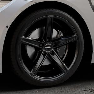 OXIGIN 18 Concave black Felge mit Reifen schwarz in 19Zoll Winterfelge Alufelge auf silbernem BMW M4 Typ F82 GTS 3,0l 368kW (500 PS) ⬇️ mit 15mm Tieferlegung ⬇️ Industriehalle 1 Thumbnail