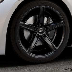OXIGIN 18 Concave black Felge mit Reifen schwarz in 19Zoll Winterfelge Alufelge auf silbernem Mercedes AMG GT Typ 197 ⬇️ mit 15mm Tieferlegung ⬇️ Industriehalle 1 Thumbnail