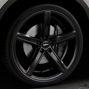OXIGIN 18 Concave black Felge mit Reifen schwarz in 22Zoll Winterfelge Alufelge auf silbernem BMW X6 Typ F16 (X6, X-N1) ⬇️ mit 15mm Tieferlegung ⬇️ Industriehalle 1 Thumbnail