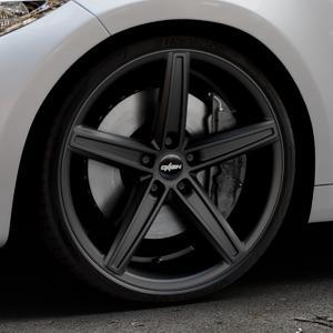 OXIGIN 18 Concave black matt Felge mit Reifen schwarz in 20Zoll Winterfelge Alufelge auf silbernem BMW M2 Typ F87 ⬇️ mit 15mm Tieferlegung ⬇️ Industriehalle 1 Thumbnail